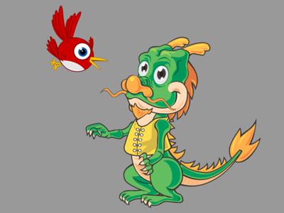 Dragon Chases Starling
