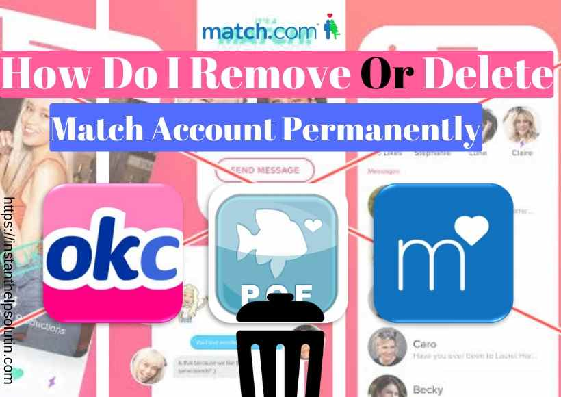 How to delete my match account ?