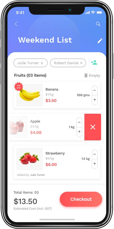 Launch an app like Instacart that ensures quick delivery of groceries.