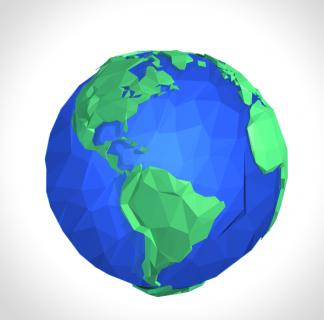 Flat Surface Shader Earth