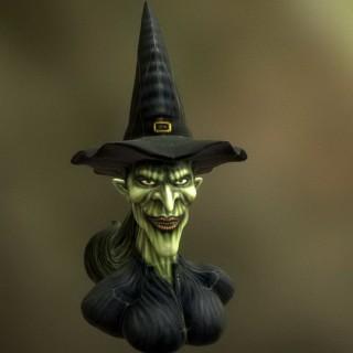 女巫半身像