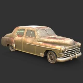 生锈的汽车