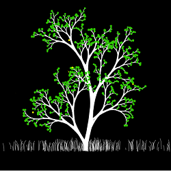 HTML5 canvas tree