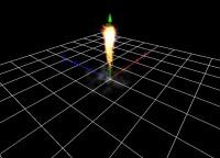 jet engine flame vertical takeoff